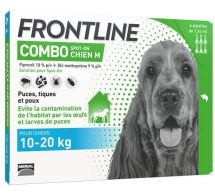 FRONTLINE® Combo Spot-on 10-20 kg Chien M - 4 pipettes